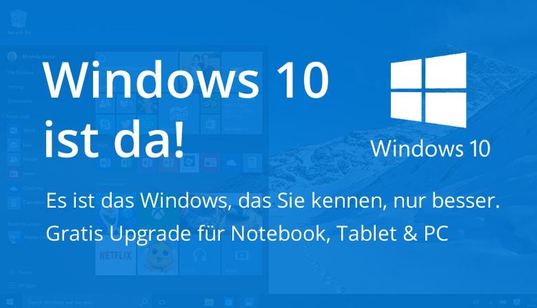 Windows 10 ist da!